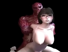 3d hardcore big tits fucked by a monster