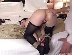 Tiedup submissive beauty assfucked roughly