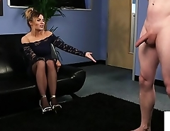 Voyeur loving beauty humiliating wanking sub