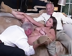 Old grandpa creampie young Ivy impresses with her giant funbags and