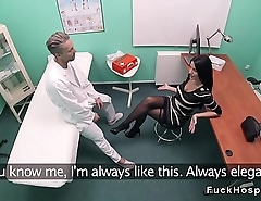 Doctor bangs patient in stockings