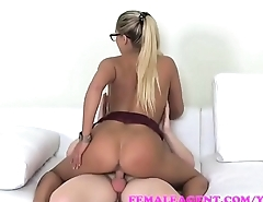 female agent  cause massive cumshot eruption