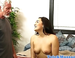 Thick masseuse plowed after giving blowjob