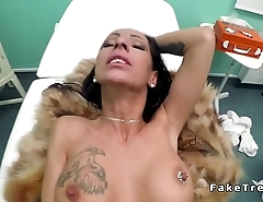 Babe collects results and doctors dick