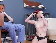 Peculiar sweetie is brought in anal assylum for awkward therapy