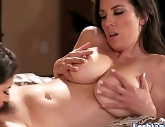 Busty stepmom pussylicked by stepdaughter