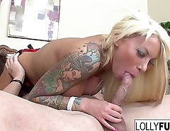 Sexy Lolly sucks his cock and swallows his cum