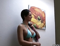 German Teen Whore Fucked by Stranger and Cum on Big Tits
