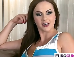 Two hard dicks in euro cunt Tina Kay