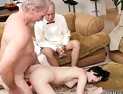 Old man having sex and guy girl xxx Frannkie heads down the Hersey