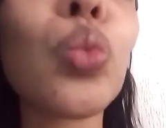 Morena engolindo porra (swallowing my cum)
