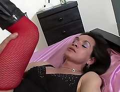 Big transsexual loves to be ass fucked