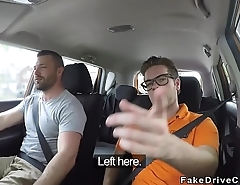 Fake driving instructors friend bangs blonde
