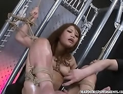 Intense BDSM Asian Style for Japanese Teen and Her Hairy Pussy