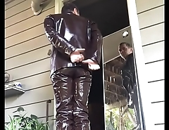 masturbating brown inside pants gay my leather dude
