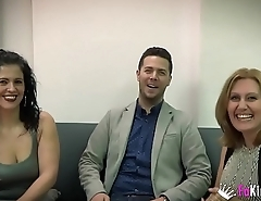 Nuria and Montse'_s threesome with Julian'_s cock
